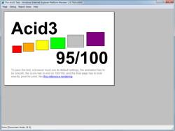 """The Acid3 Test""では95点を獲得"