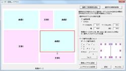 ページ内での画像や文章の配置のほか表紙のデザインも変更可能