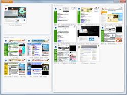 """新しいタブの管理機能""""Firefox Panorama"""""""