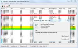 「TCPView」v3.02