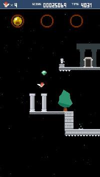 緑の宝石を3つ集めると大きい宝石が出現。取ると残機が1つ増える