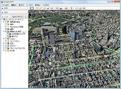 """""""道路""""レイヤと""""建物の3D表示""""レイヤ"""