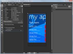ユーザーインターフェイスのデザインツール「Microsoft Expression Blend for Windows Phone」
