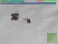 ボスとなる戦車はスピードが速い。接近されると非常に不利だ