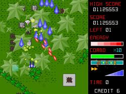 敵を倒しながら進むオーソドックスな2D縦スクロールシューティング