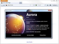リリースサイクルの見直しにより、「Firefox 5」は早ければ数カ月後にも登場(画像は開発版の「Aurora」)