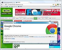 「Google Chrome」v12.0.742.91