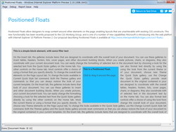 """CSS3 Positioned Floats""のデモ。これまでよりも柔軟な版組が可能"