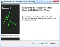 「Kinect for Windows SDK」v1.00.12