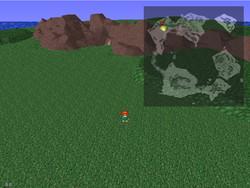 ワールドマップは3Dで表現。行き先を赤いマーカーで表示してくれるのが便利