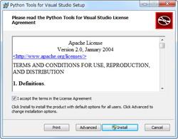 「Python Tools for Visual Studio」v1.0