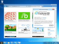 「Internet Explorer」v10.0.8102.0 Pre-release
