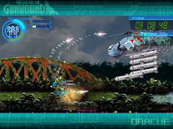 対空のサブショットはロックオンした敵を自動追尾してくれる