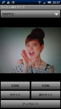 画像の顔部分を自動認識してモザイクをかけられる