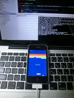iPhone上で動作する「HSP3Dish」製のアプリ(本ソフトのマニュアルページより引用)