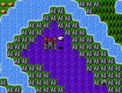飛行船を手に入れれば、ゲーム開始直後にラスボスの城へ突入することも可能