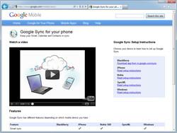 """Google Sync""のWebサイト"
