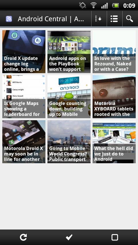 画像のサムネイルが並ぶ記事一覧に表示を切り替えることもできる