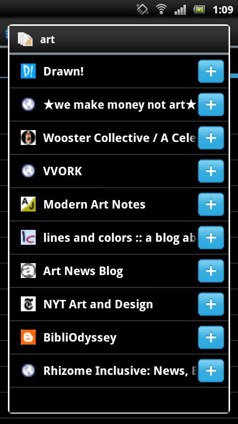 キーワードを選択し、関連するWebサイトを探してRSSフィードを登録可能
