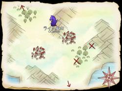 地図画面にはダンジョンの難易度が星印で表示されるのでわかりやすい