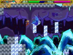 空中で敵を斬るとさらに上昇できる。落とし穴の回避にも役立つテクだ