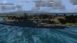 オアフ島・真珠湾に鎮座する戦艦ミズーリをフライパス