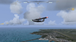 簡単操作でハワイ諸島を飛び回れる