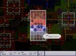 戦闘フィールドはこのような配置に。城門や城壁は地形効果が大きく有利だ