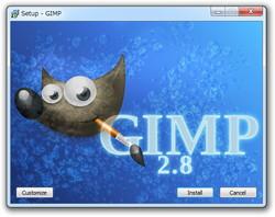「GIMP for Windows」v2.8.0