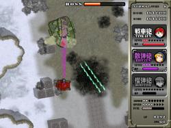 強力なボス戦車との戦闘では被弾に注意。次々に攻撃手段を奪われてしまう