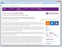 """公式ブログ""""The Visual Studio Blog"""""""