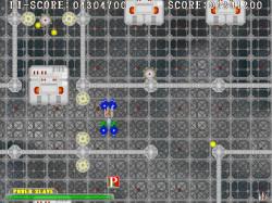 複雑な地形も登場する縦スクロールシューティングゲーム