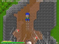 オプションを後方に切り替えれば、画面の下から登場する敵に対処しやすい