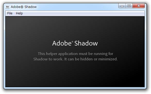 「Adobe Shadow」Release 3