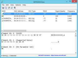 「WifiInfoView」v1.05