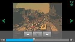 撮影した動画はアプリ内蔵のプレイヤーで再生が可能