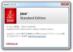 「Java SE Runtime Environment 7 Update 9(JRE 7u9)」