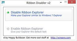 「Ribbon Disabler for Windows 8」v2