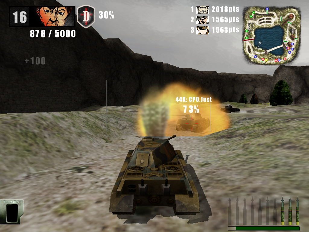 重戦車は移動は遅いが徹甲弾で戦車に大ダメージを与えられるのが醍醐味