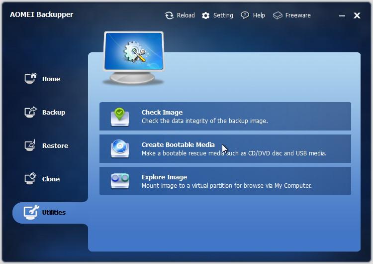 「AOMEI Backupper」v1.1