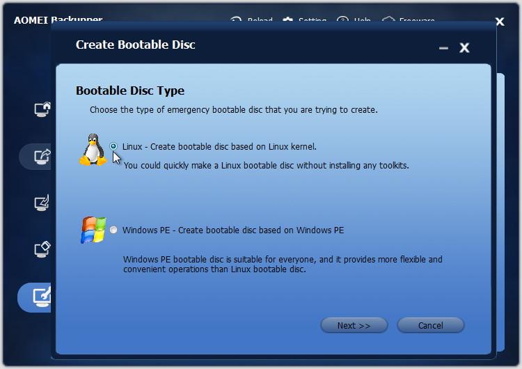 LinuxベースのブータブルCDを作成できるように