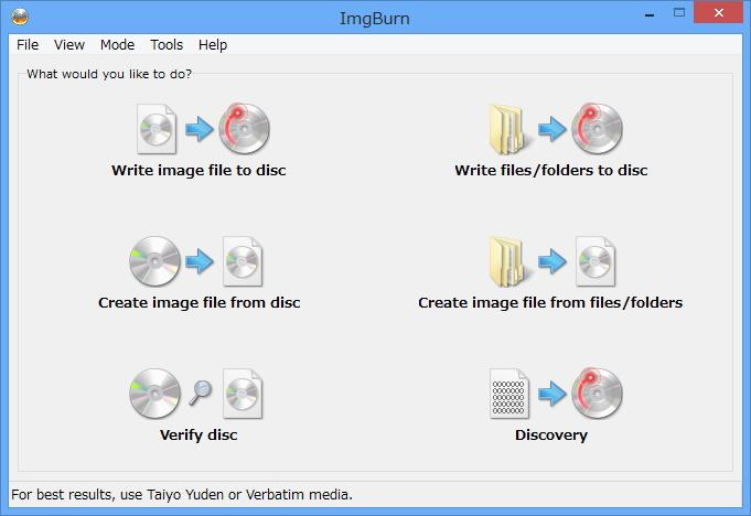 「ImgBurn」v2.5.7.0