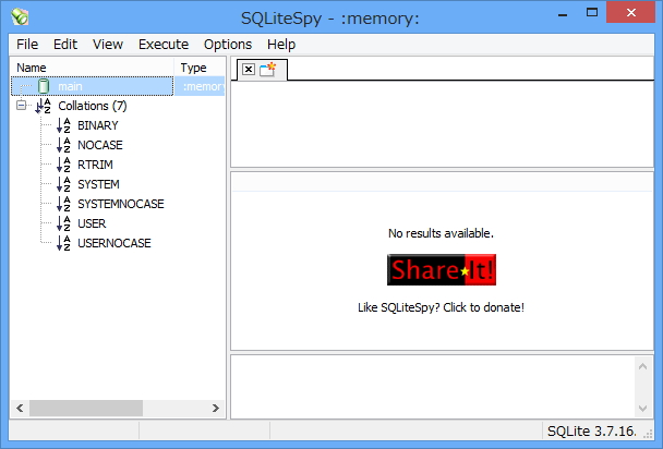 「SQLiteSpy」v1.9.3