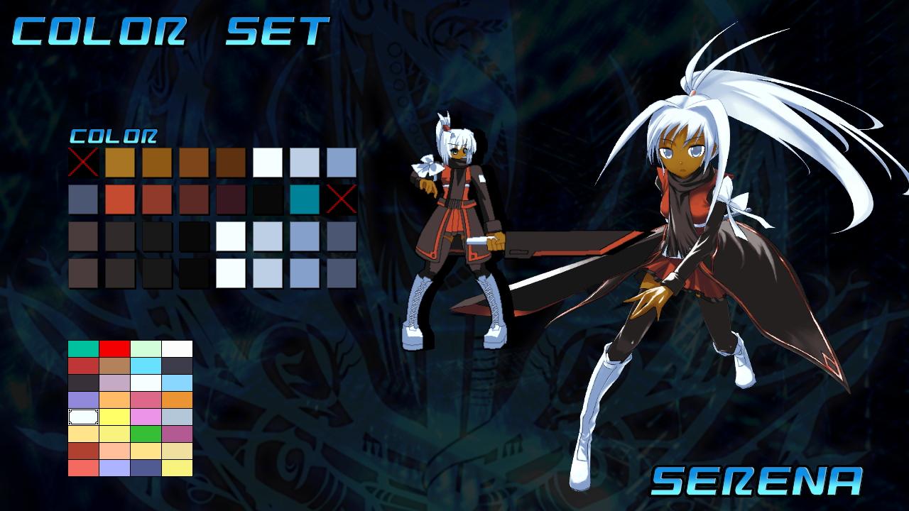 使う武器は剣や銃のほか、精霊など謎の力を操るものも。個性的なキャラクターが揃っている上、カラーリングも自由に選べる