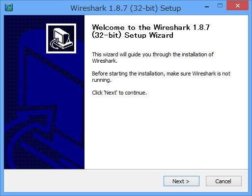「Wireshark」v1.8.7