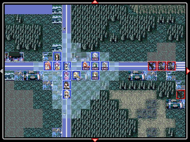 魔法少女となり町を襲う宇宙人と戦うシミュレーションRPG