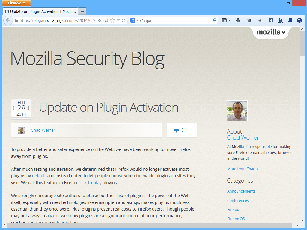 """Mozilla Security Blog"""