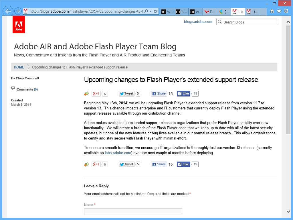"""Adobe AIR and Adobe Flash Player Team Blog"""