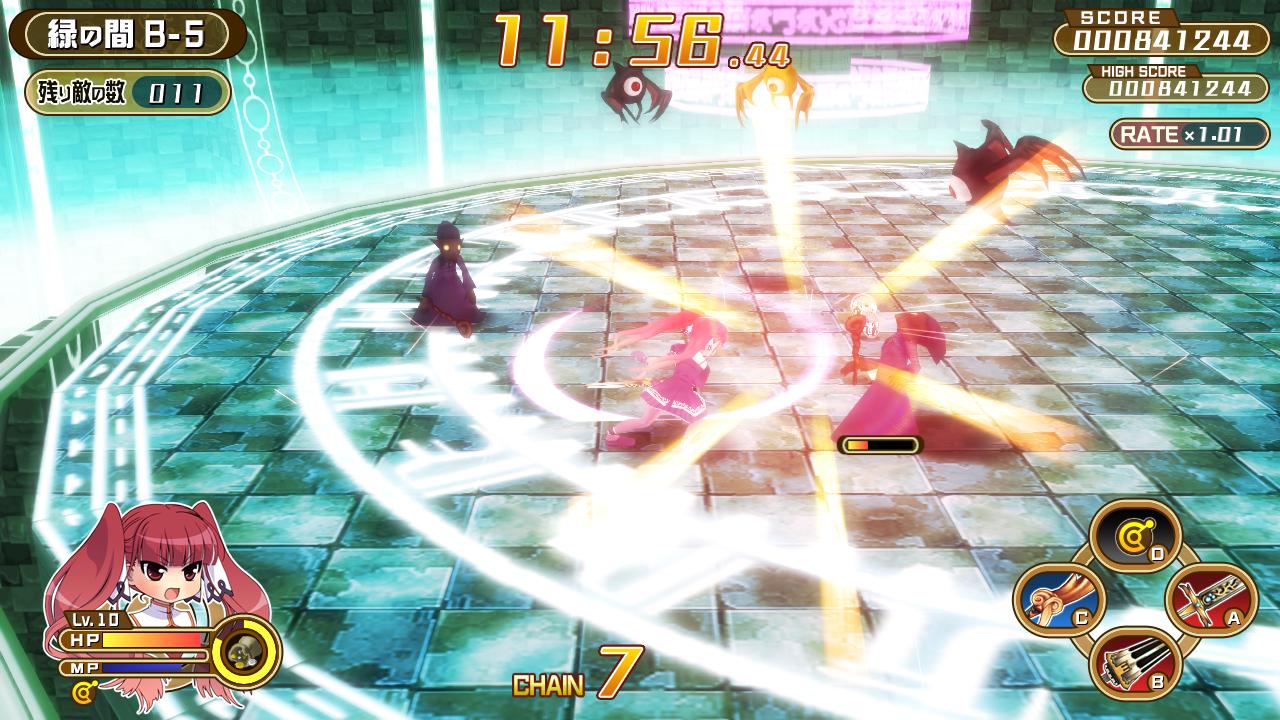 円形のフィールドで戦う3Dアクション