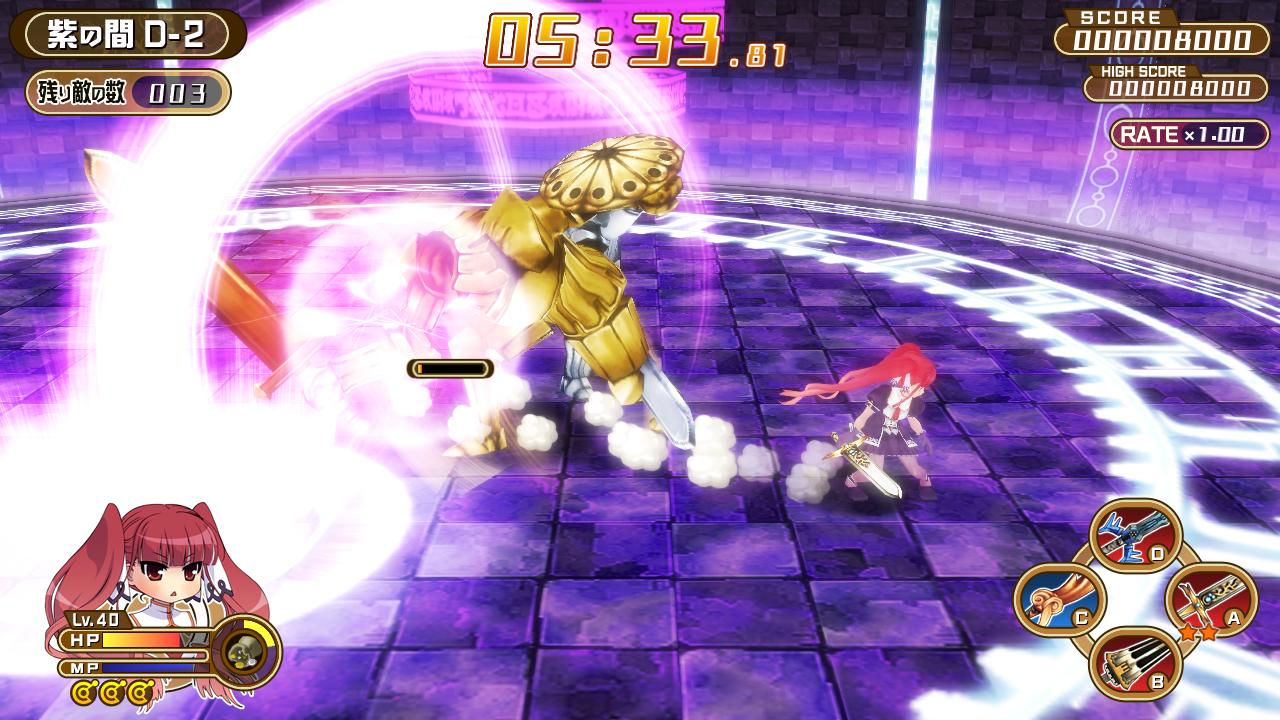 基本アクションは攻撃とダッシュ、ジャンプというシンプルなもの。ただスピード感はある
